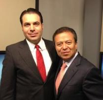 César Camacho, Expresidente del PRI Nacional y Efraín Martínez, Consultor Político.