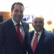 Manuel Añorve, Secretario de Operación Política del PRI Nacional (2015) y Efraín Martínez, Consultor Político.