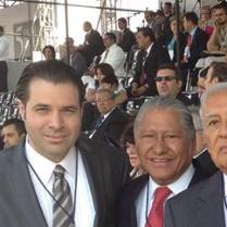 Melquiades Morales y Mariano Piña, Exgobernadores de Puebla y Efraín Martínez, Consultor Político.
