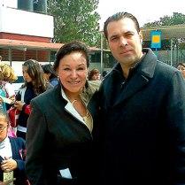 Azucena Olivares, Expresidenta Municipal de Naucalpan, Edomex. (2009-2012) y Efraín Martínez, Consultor Político.