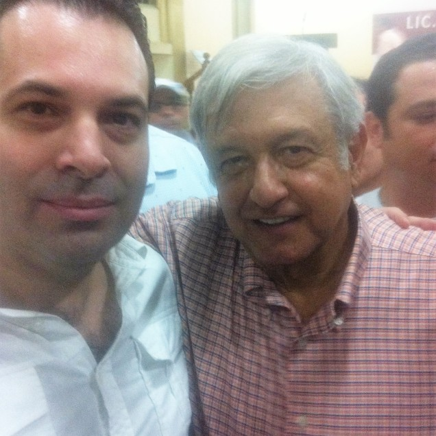 Andrés Manuel López Obrador, Aspirante a la Presidencia de la República y Efraín Martínez Figueroa, Consultor y Estratega Político