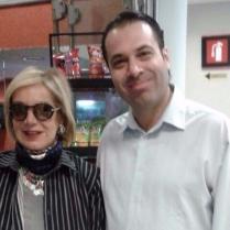 Guadalupe Loaeza, escritora y Efraín Martínez, consultor y estratega político.