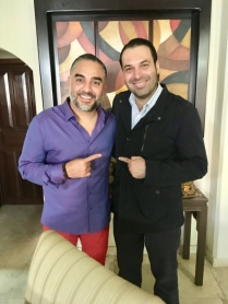 """Vicente Serrano, Conductor del Programa """"Sin Censura"""" y Efraín Martínez. Consultor y Estratega Politico."""