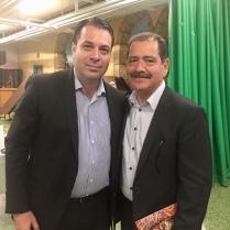 """Jesús """"Chuy"""" García, Congresista en EUA y Liderazgo de la Comunidad Mexicana en Chicago, IL. y Efraín Martínez, Consultor y Estratega Político."""